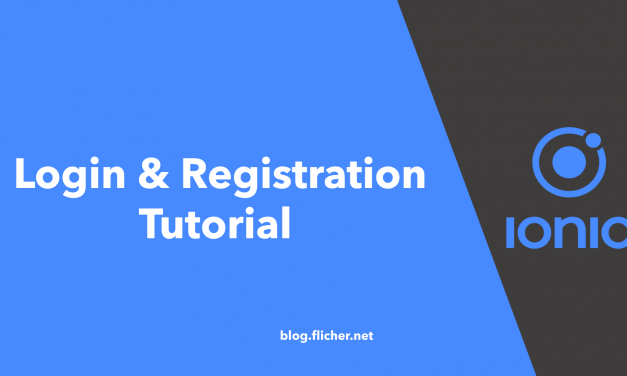 Ionic 4 User Registration & Login Tutorial