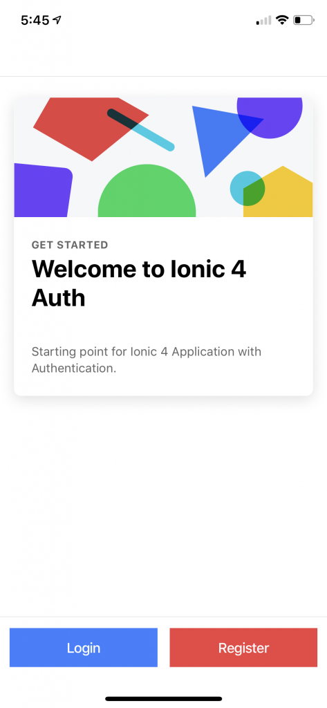 Ionic 4 User Registration & Login Tutorial - Flicher Blog